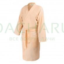 Вафельный халат купальный банный, универсальный, размер М-XXL, цвет