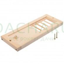 Вентиляционная решетка с задвижкой, липа, 31,5х16,5 в кор.