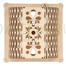 Вентиляционная задвижка резная 15,5*15,5 см для бани и сауны