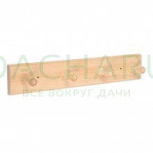 Вешалка 4-х рожковая, липа, 35х6,5х7