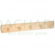 Вешалка 5-ти рожковая, липа, 45х6,5х7