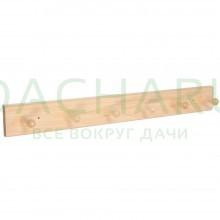 Вешалка 6-ти рожковая, липа, 55х6,5х7