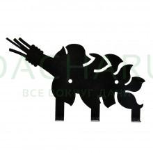 Вешалка металлическая 3 крючка «Веник« 15,5*8 см