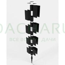 Угловой поворотный элемент для высокой грядочной доски из ДПК 300*30мм. Коричневый (1шт.)