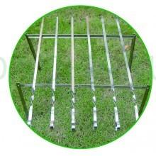 Мангал разборный в чехле 50x33см + 6 шампуров 60 см
