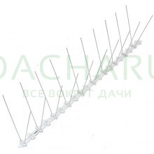 Металлические противоприсадные шипы от птиц «SITITEK Барьер-Премиум 2» (50 см, 20 шипов, 2 ряда)