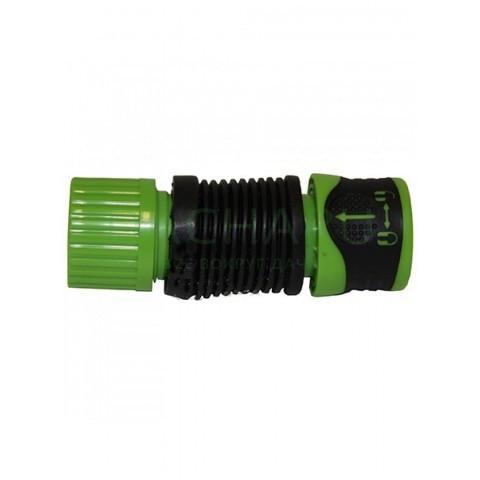 Гибкий коннектор двухкомпонентный для шланга 1/2 дюйма-5/8 дюйма , аквастоп, с замком (HC3007)