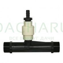 Инжектор Вентури для внесения удобрений 2 дюйма поток 11.58-20m3/h при 0.7-9.5bar, мощность всасывания 110-1200L/h (VI0150H)