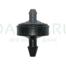 Капельница компенсированная, 1/4 дюйма, Серая 4л/ч - 0,5-4,0 bar (PCT0304)