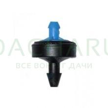 Капельница компенсированная, 1/4 дюйма, Синняя 8л/ч - 0,5-4,0 bar (PCT0308)