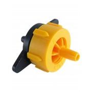 Капельница компенсированная разборная, 1/4 дюйма, Желтая, 2л/ч - 0,8-3,2 bar (PCT0102)