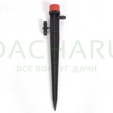 Капельница регулируемая на стойке 13см, 1/4 дюйма, 0-70 л/ч - 1 bar (AOD0170-13H)