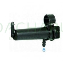 Капельница удлиненная с фиксацией на трубке 16мм, компенсированная, 1/4 дюйма, Черная 4л/ч - 0,8-4,0 bar (PCT0508A)