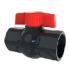 Кран, компактный шаровый, PVC, резьба внут х внут 1 дюйм (FFB0110)