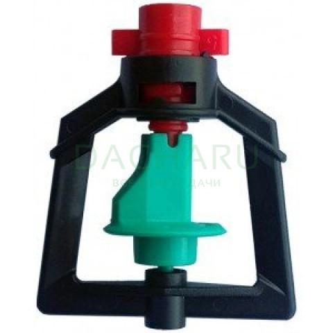 Микроспринклер, подвесной, красный 90л/ч 2bar, радиус 3,9м (MS1104A)