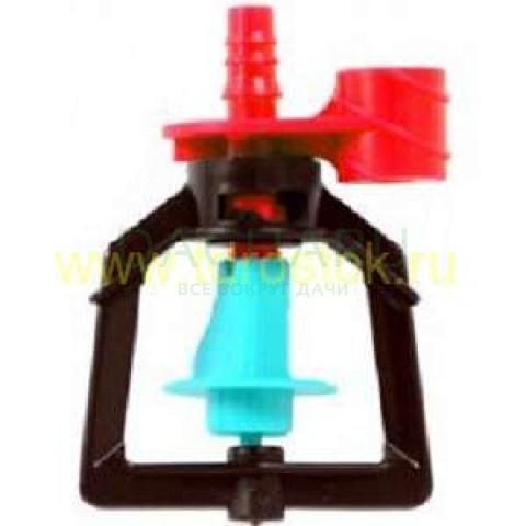 Микроспринклер, подвесной, красный 90л/ч 2bar, радиус 3,9м (MS1104D)