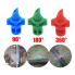 Микроспринклер, сектор полива 180 градусов, зеленый, радиус 0,9-1,3м, расход 30-55л/ч при давлении 1,5-3 bar (MJ1502)