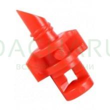Микроспринклер, сектор полива 270 градусов, красный, радиус 0,9-1,3м, расход 30-50л/ч при давлении 1,5-3 bar (MJ1503)