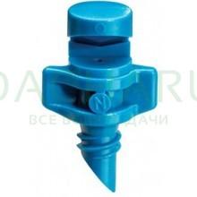 Микроспринклер, сектор полива 90 градусов, синий, радиус 0,9-1,3м, расход 30-55л/ч при давлении 1,5-3 bar (MJ1504)