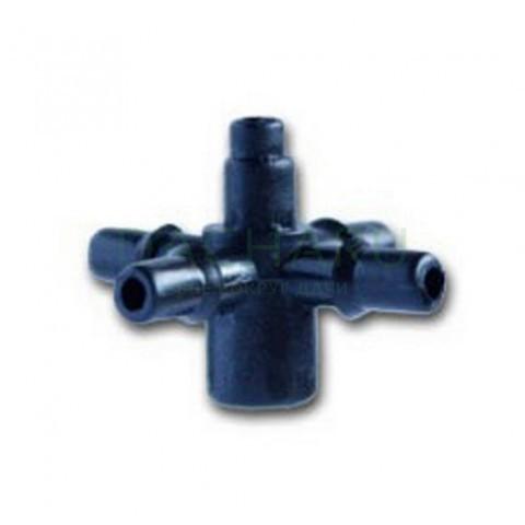Разветвитель крестовой на 4 вых для микротрубки 6мм (5135)