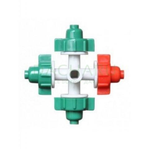 Туманообразователь, 3 сопла, зеленый, 20,0л/ч 2,5bar, радиус 0,8-1,0м (MJ1301AT)