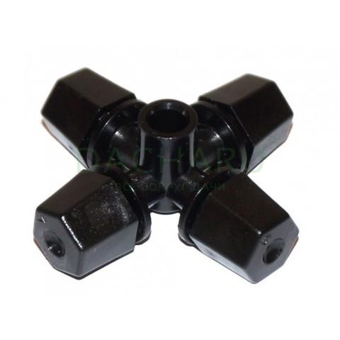 Туманообразователь, 4 сопла, черный 33,2л/ч 2,5bar, радиус 1,1-1,2м (MJ1301)