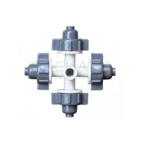 Туманообразователь, 4 сопла, серый 32,0л/ч 2,5bar, радиус 0,8-1,0м (MJ1301B)