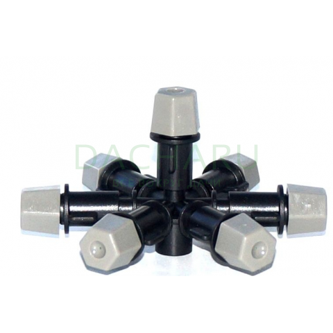 Туманообразователь, 7 сопел, серый, 2.0-4.0bar, радиус 0.9-1.0м, 40-55л/ч (MJ857E)