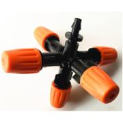 Туманообразователь,регулиремый, 5 сопел, оранжевый 2.0-4.0bar, радиус 0.9-1.0м, 30-38л/ч (MJ854E)