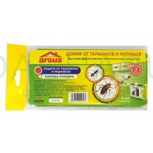 ARGUS Клеевая ловушка для тараканов ARGUS «Домик» 4шт в коробочке