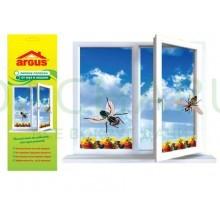 ARGUS клеевые оконные полоски от мух и мошек с рисунком ФРУКТОВ 4 шт в упаковке