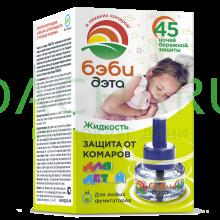 БЭБИ ДЭТА детская жидкость от комаров, 30 мл