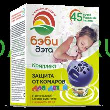 БЭБИ ДЭТА детский комплект от комаров: жидкость 30 мл + электрофумигатор