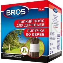 Bros - двухсторонний клеевой пояс для садовых деревьев (ловчий пояс) 5м