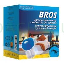 BROS - электрофумигатор и жидкость от комаров 60 ночей