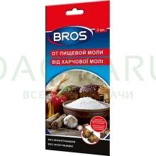 Bros - клеевая ловушка для отлова пищевой моли с феромоном 2 шт.
