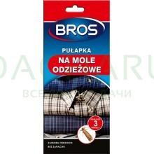Bros - клеевая ловушка-домик для отлова одежной моли с феромоном