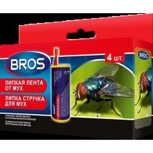 BROS - липкая лента от мух, в упаковке 4 шт.