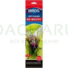 BROS - липкая полоска от мух (специальный объемный рисунок), 5 шт