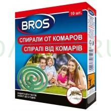 BROS - Спирали от комаров c подставкой, 10 шт.