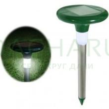Отпугиватель кротов и насекомых с солнечной батареей «SITITEK Гром-Профи LED+»