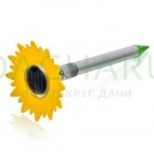 Отпугиватель КРОТОВ ультразвуковой с фонариком (на солнечной батарее), 16.3*36 см