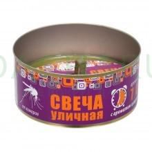 Свеча уличная от КОМАРОВ в жестяной банке, цитронелла
