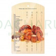 Доска разделочная деревянная «Выпечка» 29*18,5 см