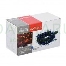 Электрогирлянда «Нить» 100 синих LED ламп