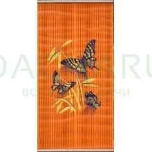 Электрообогреватель настенный «Бархатный сезон» Бабочки на оранжевом