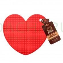 Подставка термостойкая силиконовая «Сердце» 17*15 см
