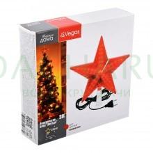 Верхушка на елку «Звезда» красная, 30 LED ламп