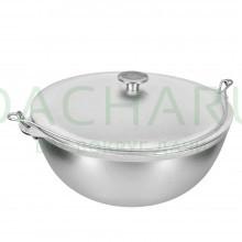 Казан алюминиевый литой с крышкой 8 л, азиатская чаша