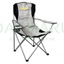 Кресло кемпинговое 61х63х105 см, складное, с мягкой подложкой, в чехле
